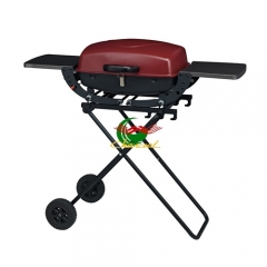 Factory price outdoor family use trolley folding butane bbq gas grill